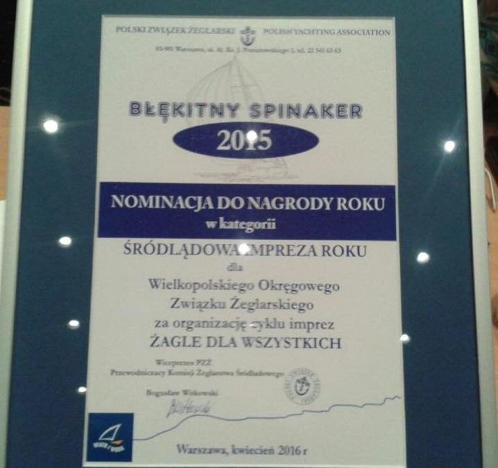 Nominacja do Błękitnego Spinakera dla WOZŻ